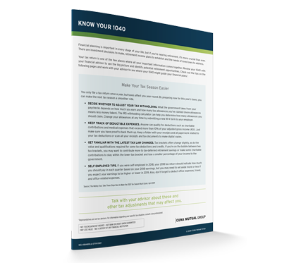 Know Your 1040 Sales Aid